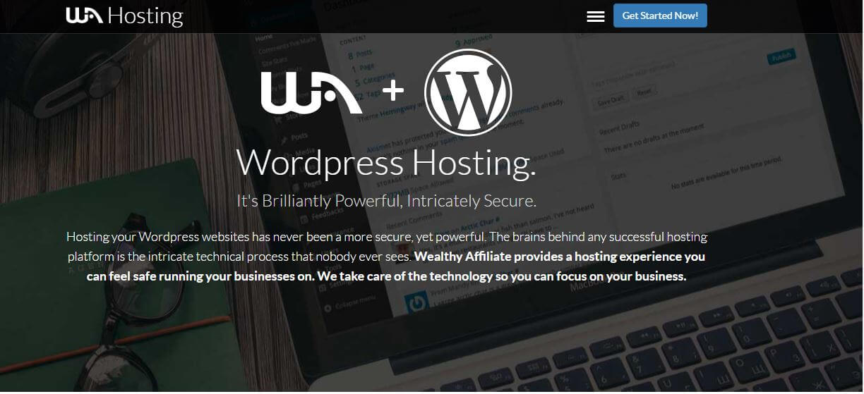 wordpress Hosting at wealthy affiliate