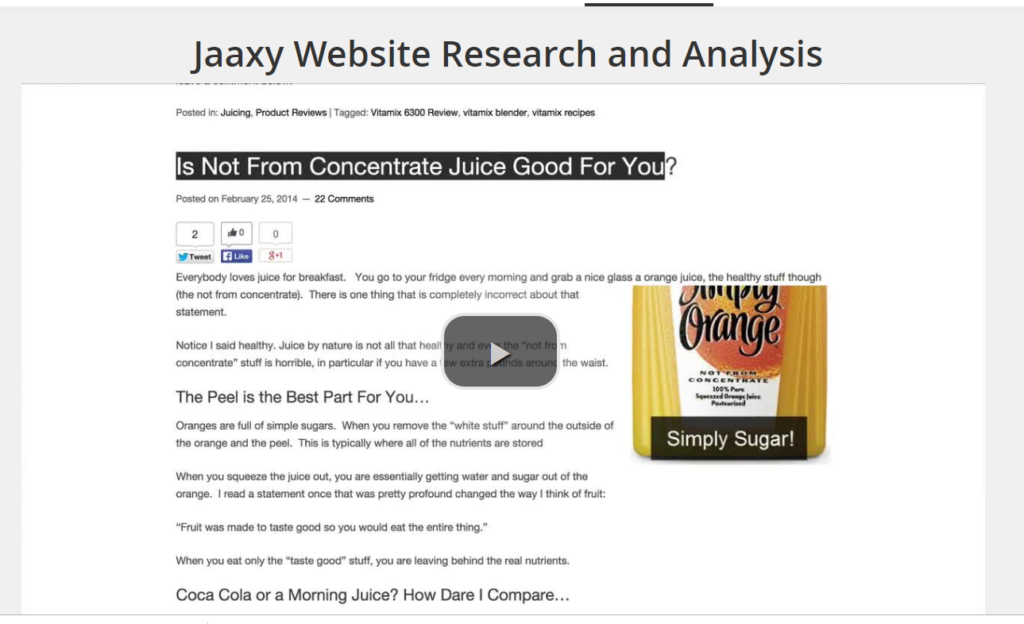 Jaaxy Website Research And Analysis
