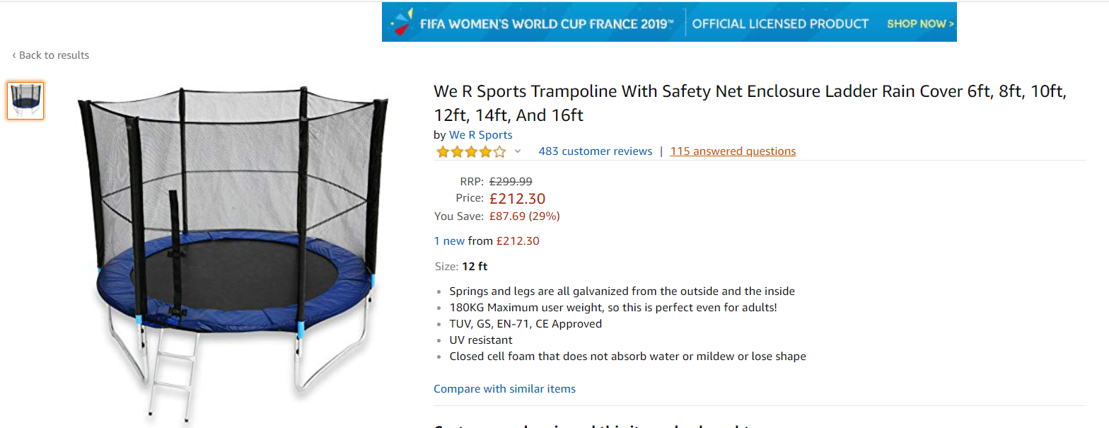 Best Seller Trampoline On Amazon